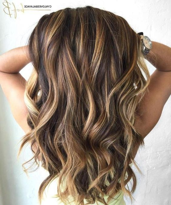 Best 25+ Highlights Ideas On Pinterest | Brunette Highlights For Long Hairstyles Brown With Highlights (View 11 of 15)