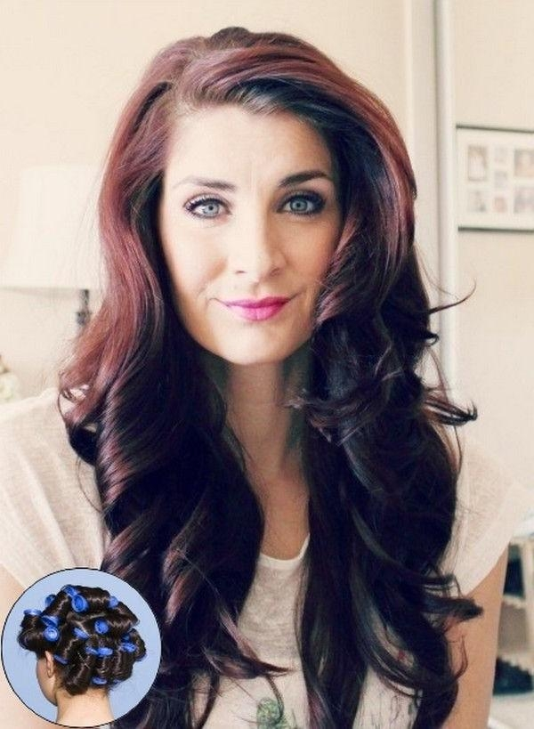 hot curler hair styles hairstyle using rollers hairstyles by unixcode 3063 | best 25 hot rollers hair ideas only on pinterest hot roller with regard to long hairstyles using hot rollers