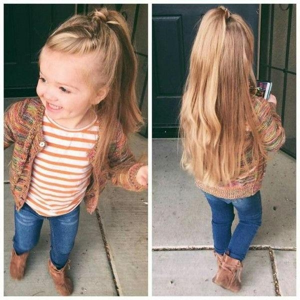 Best 25+ Little Girl Hairstyles Ideas Only On Pinterest | Little Within Long Hairstyles For Jeans (View 8 of 15)