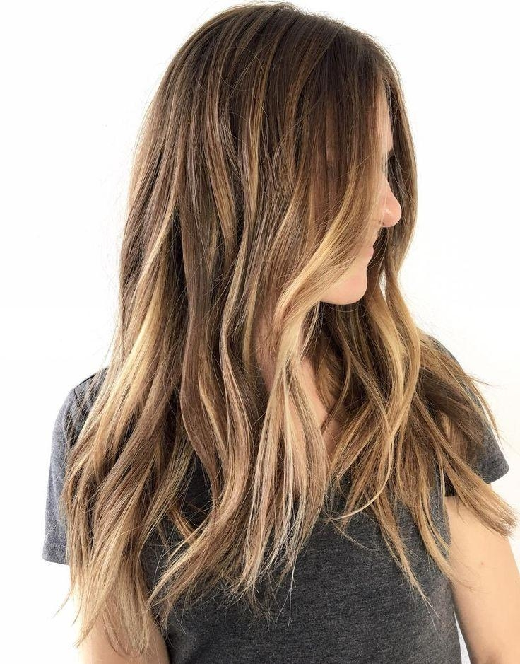 Best 25+ Long Brown Bob Ideas On Pinterest | Long Brown Hair, Long In Long Hairstyles Brown With Highlights (View 3 of 15)