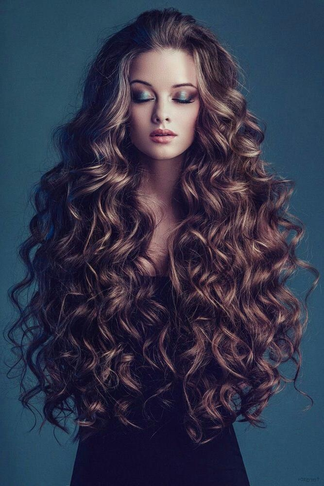 Best 25+ Long Curly Hairstyles Ideas On Pinterest | Natural Curly Regarding Long Hairstyles With Curls (View 3 of 15)