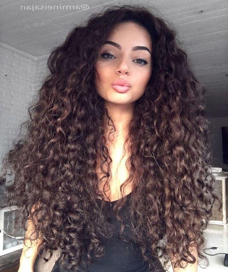 Best 25+ Long Curly Hairstyles Ideas On Pinterest | Natural Curly With Regard To Long Hairstyles Natural (View 12 of 15)