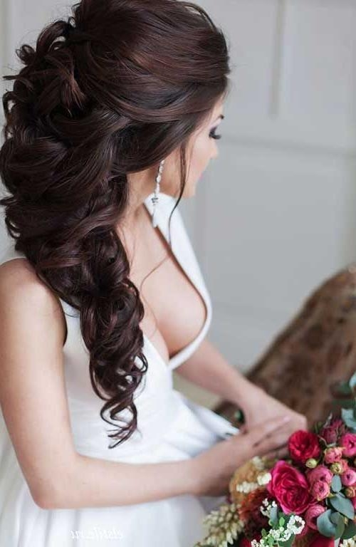 Best 25+ Long Curly Wedding Hair Ideas On Pinterest | Long Curly For Long Hairstyles For Wedding (View 10 of 15)