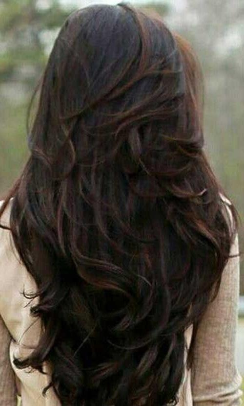 Best 25+ Long Hair With Layers Ideas On Pinterest | Hair Long Pertaining To Long Hair Colors And Cuts (View 10 of 15)