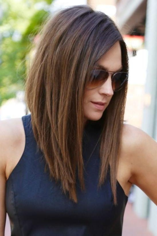 Best 25+ Long Inverted Bob Ideas On Pinterest | Inverted Bob Intended For Medium Long Layered Bob Hairstyles (View 9 of 15)