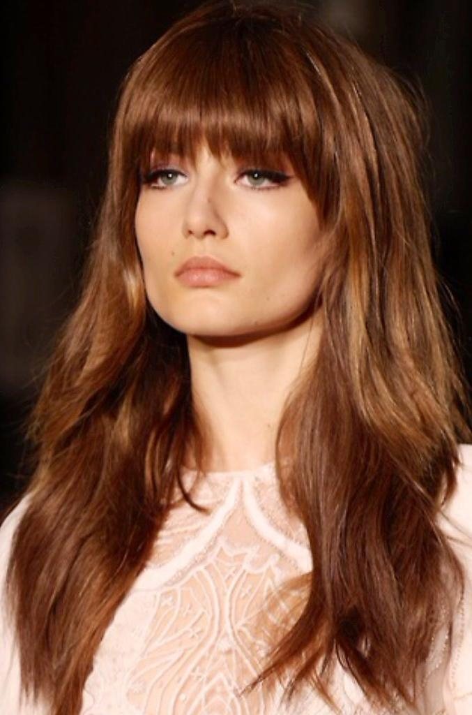 Best 25+ Long Layered Bangs Ideas On Pinterest | Long Layers With Inside Long Hairstyles Layers With Bangs (View 11 of 15)