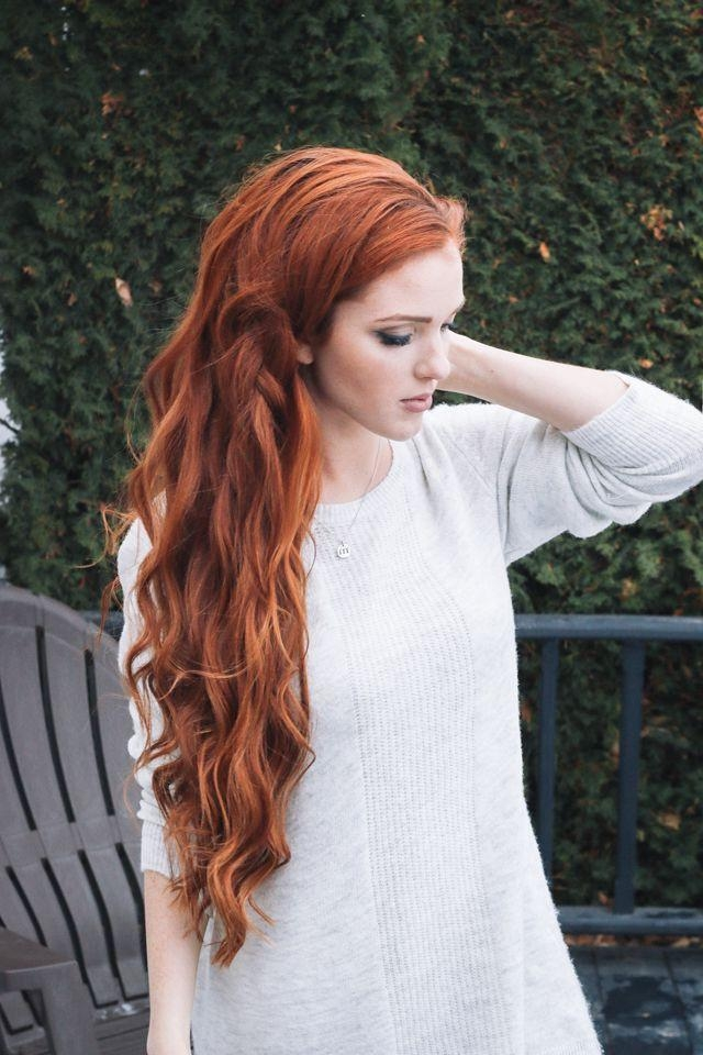 Best 25+ Long Red Hair Ideas On Pinterest | Beautiful Red Hair Throughout Long Hairstyles Red Hair (View 10 of 15)