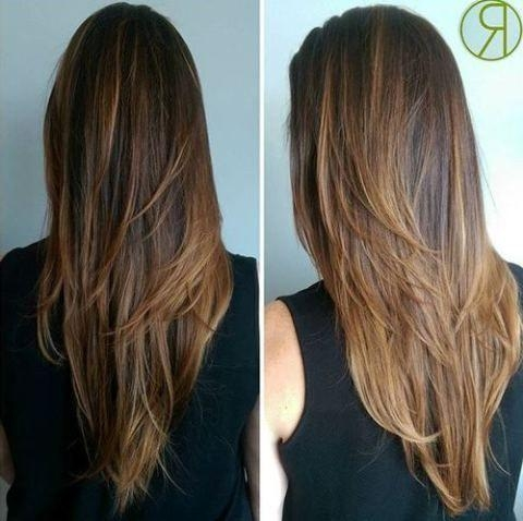 Best 25+ Long V Haircut Ideas On Pinterest | V Cut Long Layers, V Pertaining To Long Hairstyles V Shape (View 8 of 15)