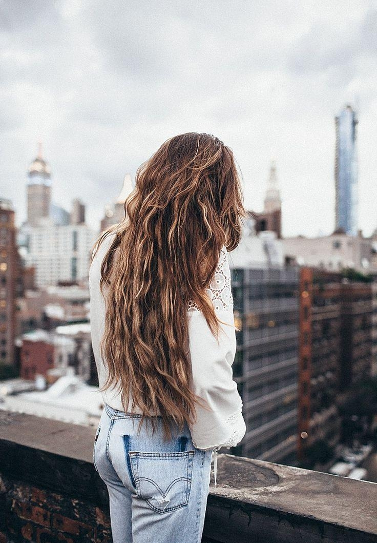 Best 25+ Long Wavy Hair Ideas On Pinterest | Wavy Hair, Long Hair Throughout Long Hairstyles For Jeans (View 10 of 15)