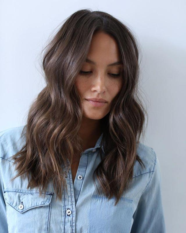 Best 25+ Medium Long Haircuts Ideas On Pinterest | Long Length Intended For Medium To Long Hairstyles (View 8 of 15)