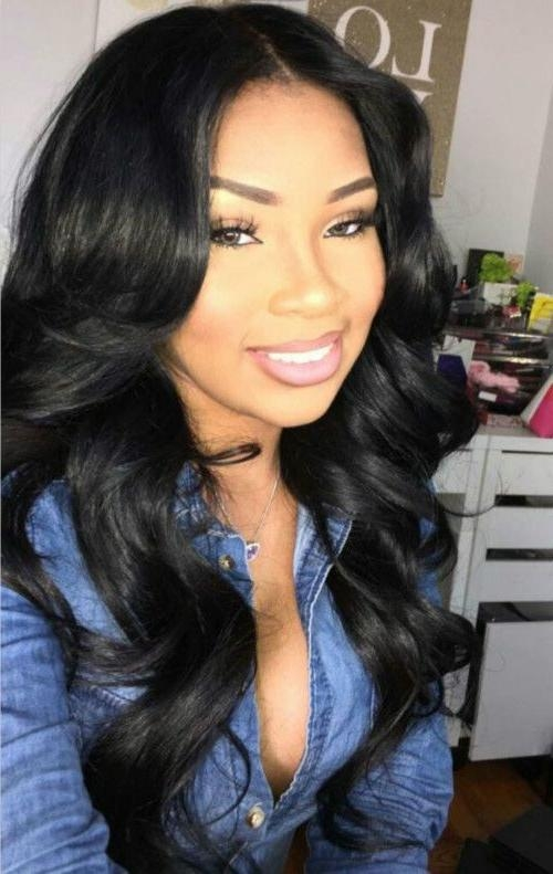 Best 25+ Middle Part Weave Ideas Only On Pinterest | Middle Part Pertaining To Long Hairstyles Black Girl (View 12 of 15)