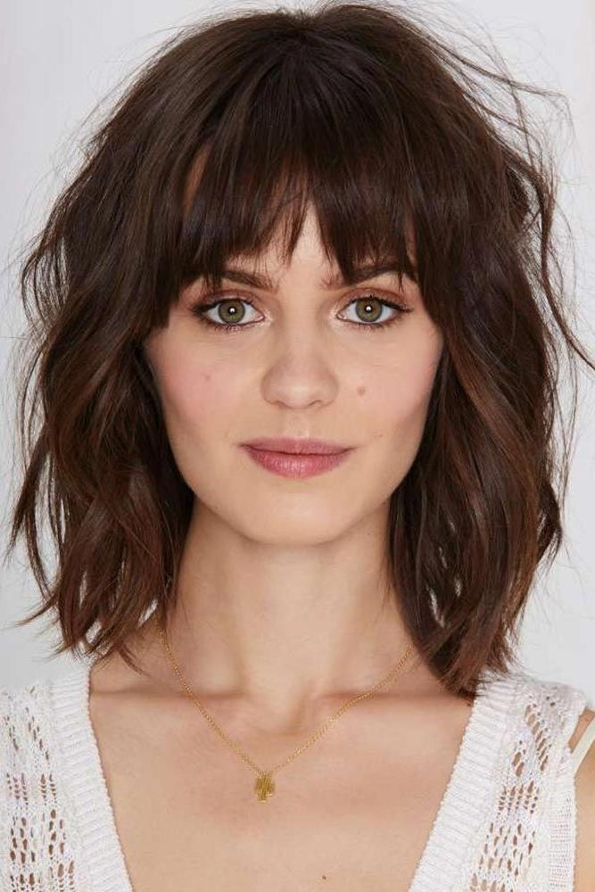 Best 25+ Oval Face Bangs Ideas On Pinterest | Oval Face Hairstyles With Long Hairstyles Oval Faces Thick Hair (View 5 of 15)