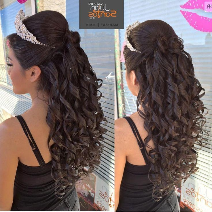 Best 25+ Quince Hairstyles Ideas That You Will Like On Pinterest Within Long Hair Quinceanera Hairstyles (View 6 of 15)