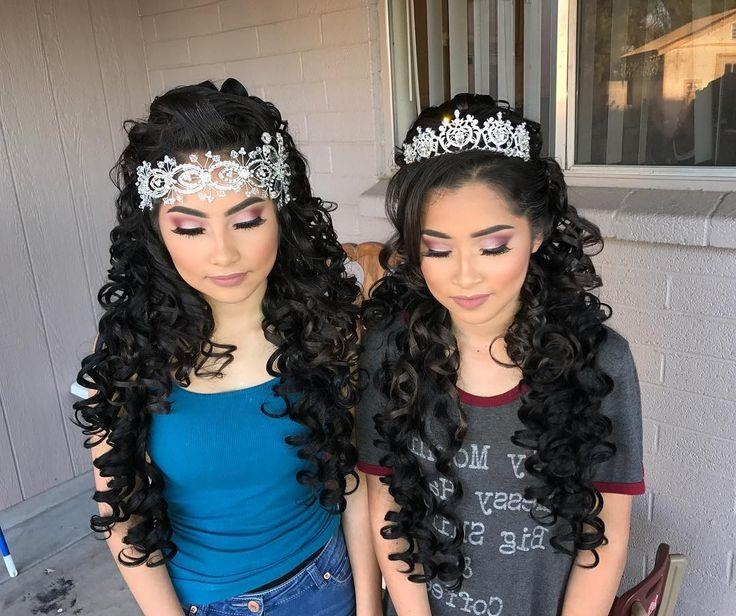 Best 25+ Quinceanera Hairstyles Ideas On Pinterest | Quince Pertaining To Long Curly Quinceanera Hairstyles (View 10 of 15)