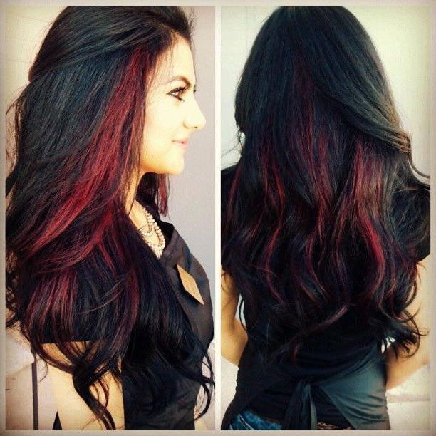 Best 25+ Red Black Hair Ideas On Pinterest | Black Hair Red Intended For Long Hairstyles Red Highlights (View 11 of 15)