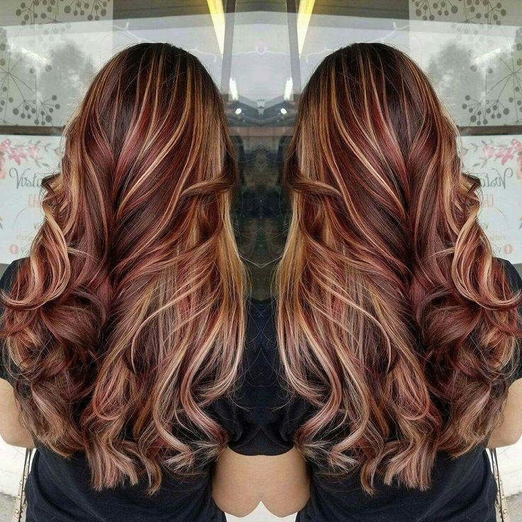 Best 25+ Red Blonde Highlights Ideas On Pinterest | Fall Hair Regarding Long Hairstyles Red Highlights (View 12 of 15)