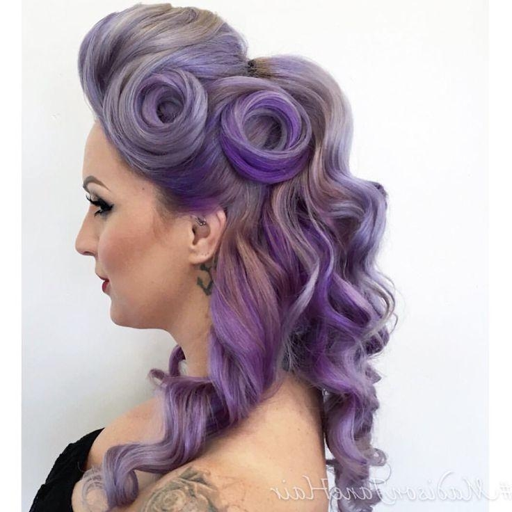 Best 25+ Rockabilly Updo Ideas On Pinterest | Rockabilly Hair Intended For Vintage Updos Hairstyles For Long Hair (View 6 of 15)