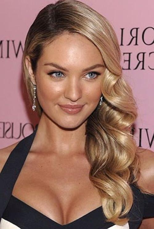 Best 25+ Side Swept Curls Ideas On Pinterest | Side Swept Within Long Hairstyles Pulled To One Side (View 12 of 15)