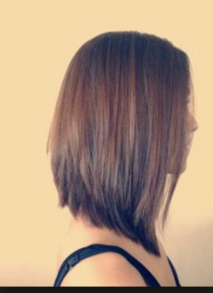 Best 25+ Stacked Bob Long Ideas On Pinterest | Longer Stacked Bob In Long Inverted Bob Back View Hairstyles (View 13 of 15)