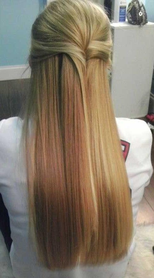 Best 25+ Straight Hairstyles Prom Ideas On Pinterest | Sleek Regarding Long Hairstyles Down Straight (View 3 of 15)