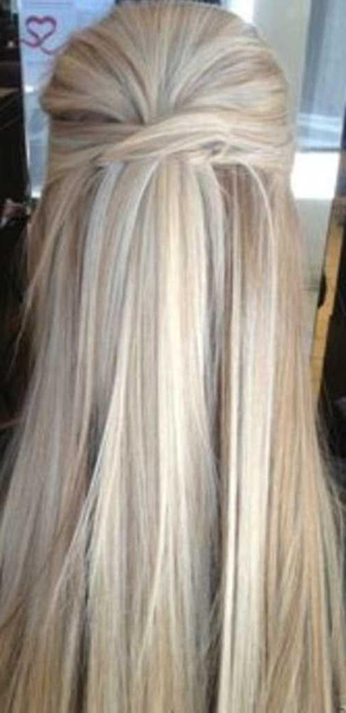 15 Best Ideas Of Half Up Hairstyles For Long Straight Hair