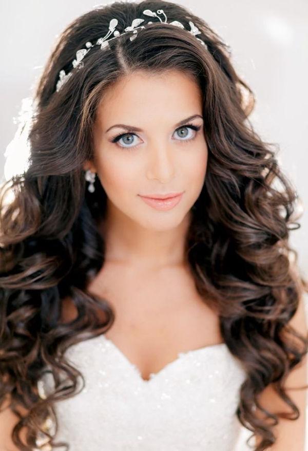 Best 25+ Tiara Hairstyles Ideas On Pinterest | Wedding Tiara Inside Long Hairstyles Curls Wedding (View 9 of 15)