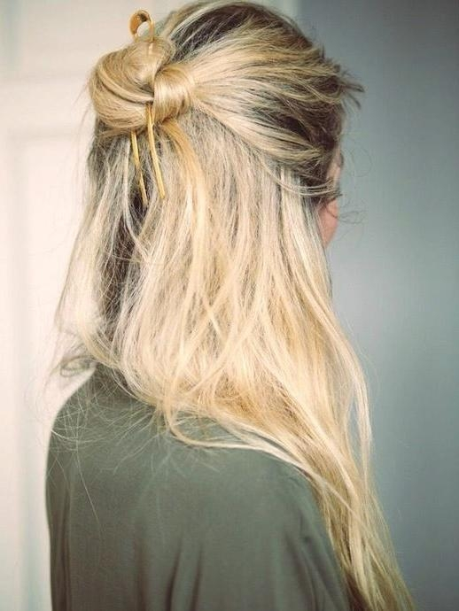 Best 25+ Top Knot Hairstyle Ideas On Pinterest | Knot Hairstyles In Long Hairstyles Knot (View 7 of 15)