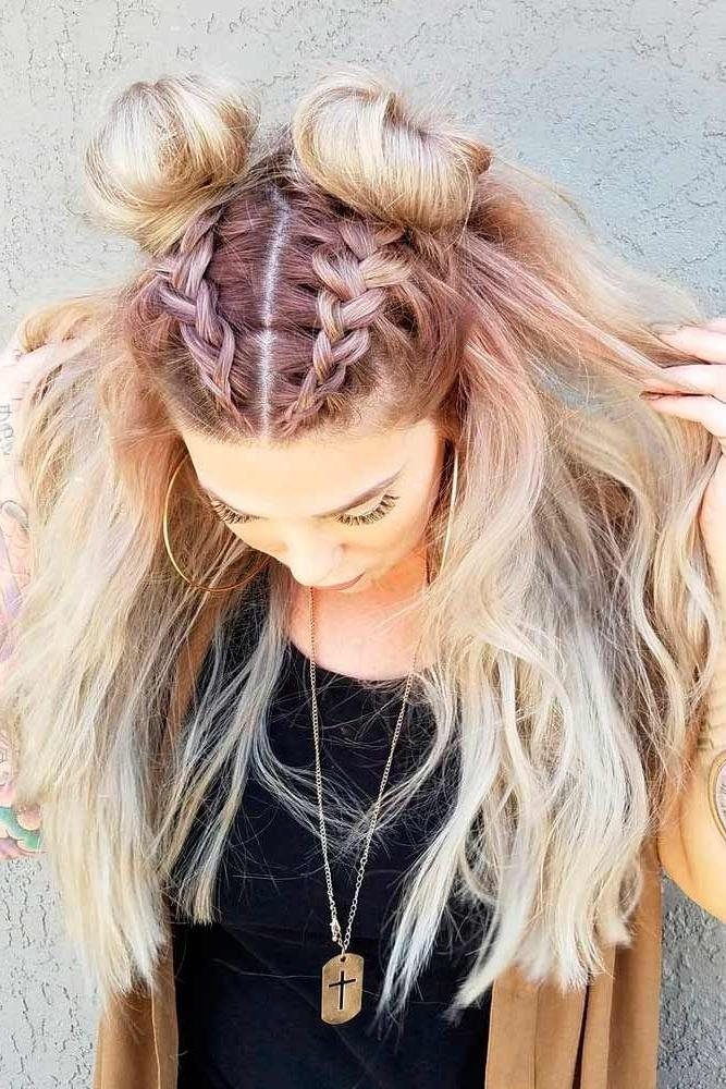 Best 25+ Top Knot Hairstyle Ideas On Pinterest | Knot Hairstyles Intended For Long Hairstyles Knot (View 8 of 15)