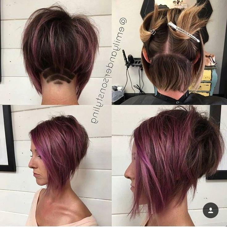 Best 25+ Undercut Bob Ideas On Pinterest | Short Hair Undercut Inside Long Hairstyles Shaved Underneath (View 6 of 15)