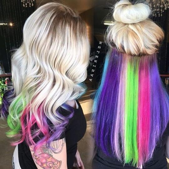Best 25+ Underneath Hair Colors Ideas Only On Pinterest | Blonde Within Long Hairstyles Dyed (View 8 of 15)