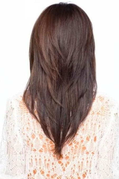 Best 25+ V Layered Haircuts Ideas Only On Pinterest | V Layers Inside Long Hairstyles V Shape At Back (View 6 of 15)