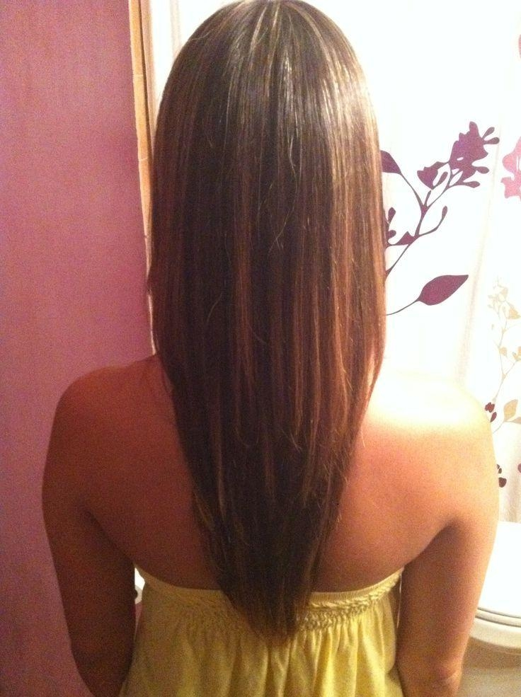 Best 25+ V Layered Haircuts Ideas Only On Pinterest | V Layers Regarding Long Hairstyles V Shape (View 11 of 15)