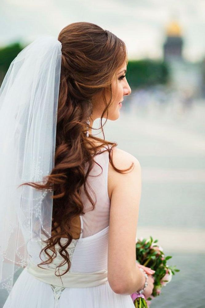 Best 25+ Wedding Hairstyles Veil Ideas Only On Pinterest | Wedding In Long Hairstyles Veils Wedding (View 4 of 15)
