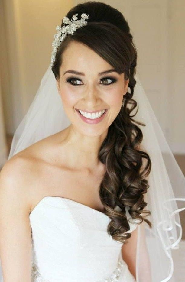 Best 25+ Wedding Hairstyles With Veil Ideas On Pinterest | Veil With Long Hairstyles Veils Wedding (View 2 of 15)
