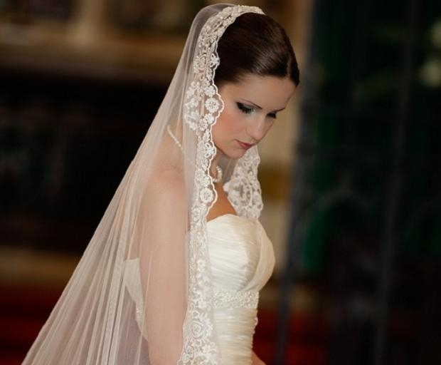 Bridal Hairstyles With Long Veils – She'said' Regarding Long Hairstyles Veils Wedding (View 8 of 15)