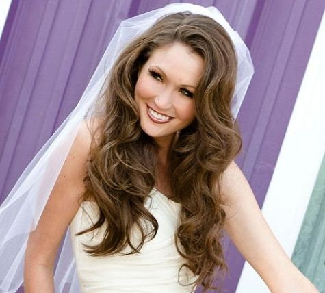 Bridal Long Hairstyle Long Hairstyles For A Wedding Black Hair Inside Long Hairstyles Veils Wedding (View 9 of 15)