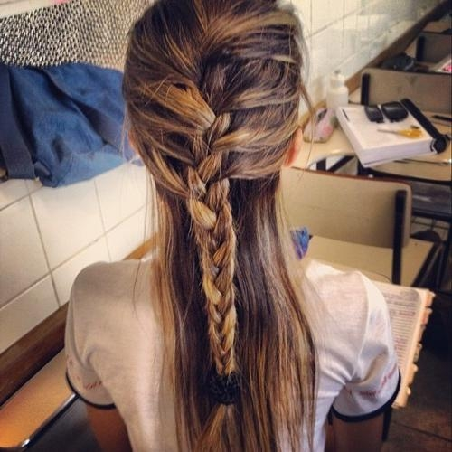 Casual Feminine French Braid For Long Hair – Hairstyles Weekly Pertaining To Casual Braids For Long Hair (View 13 of 15)