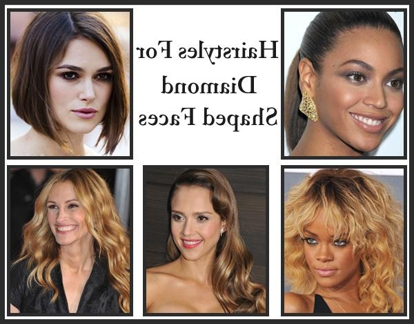 Celebrities For Celebrities With Diamond Shaped Face Shapes | Www Regarding Long Hairstyles Diamond Shaped Faces (View 11 of 15)