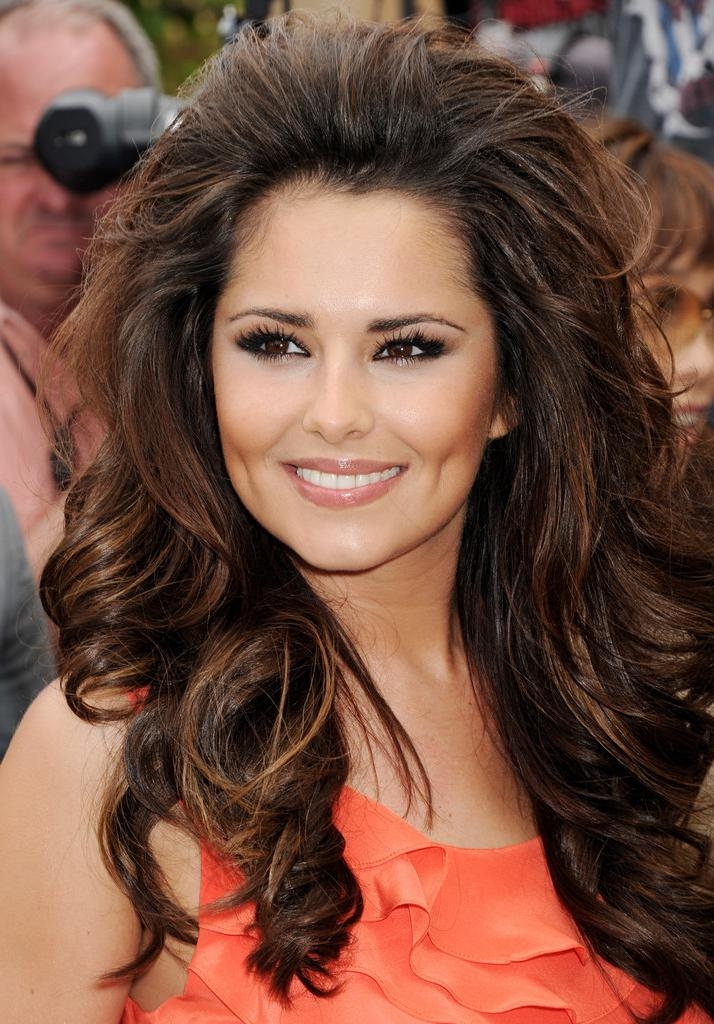 Cheryl Cole Long Curls – Long Hairstyles Lookbook – Stylebistro With Long Hairstyles With Volume At Crown (View 9 of 15)