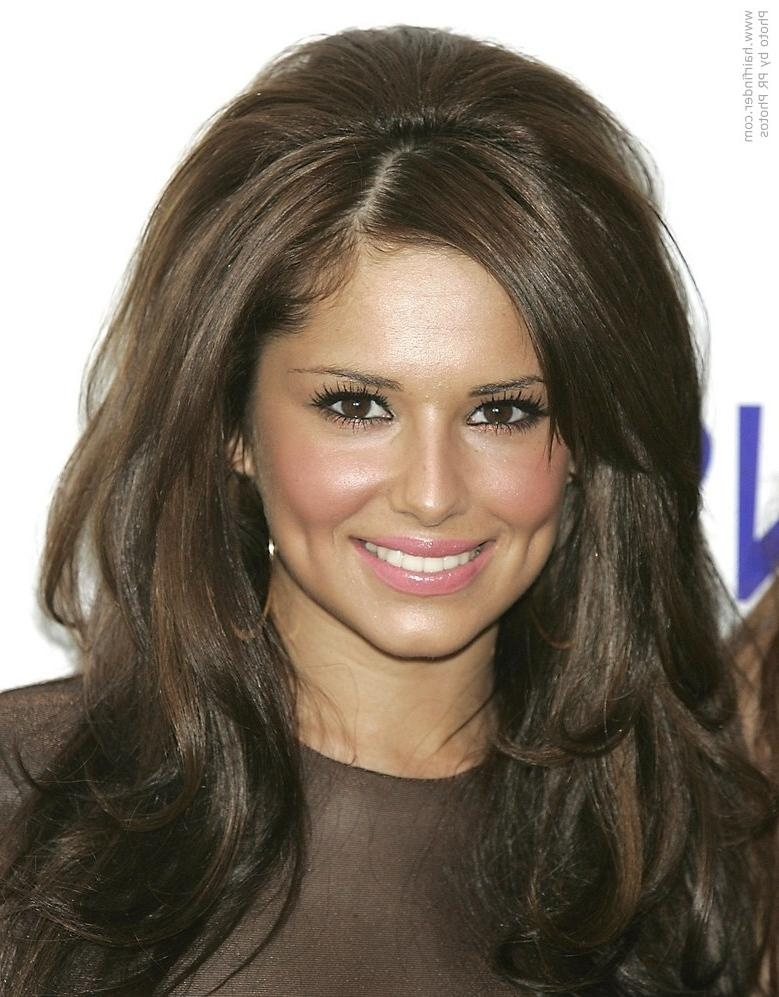 Cheryl Cole Wearing Her Long Hair With Volume In The Crown Pertaining To Long Hairstyles With Volume At Crown (View 11 of 15)