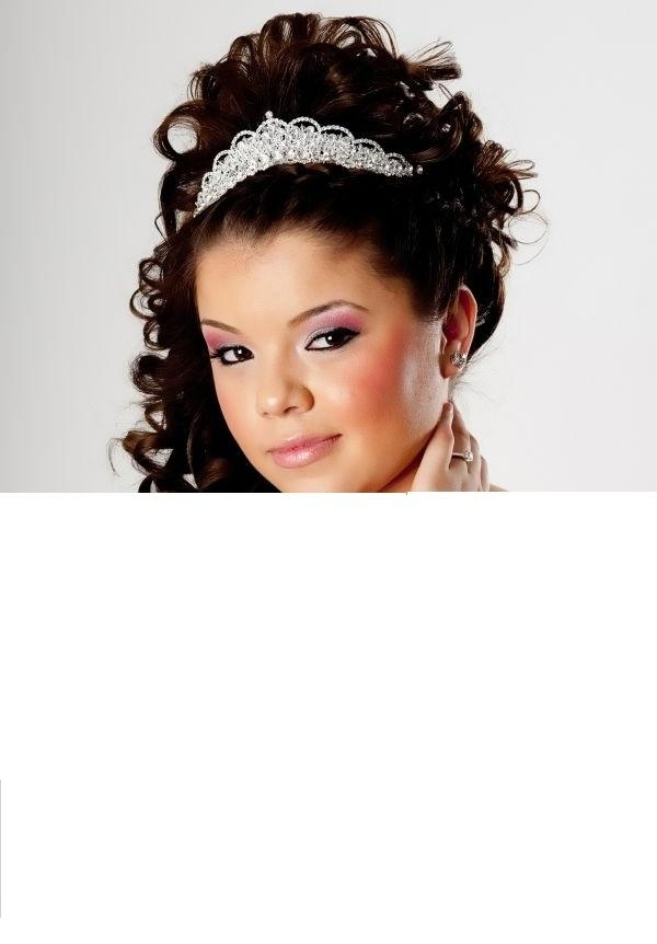 quinceanera hairstyles with tiara hairstyles