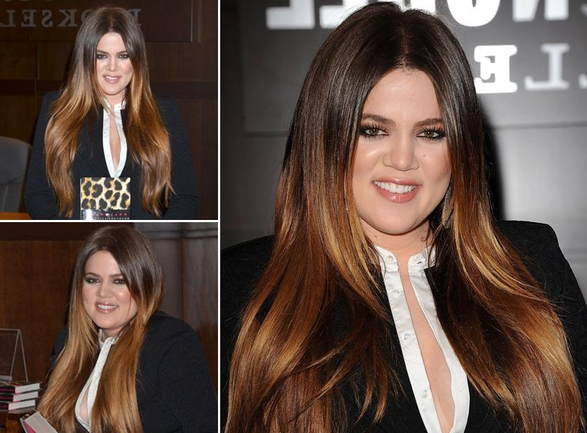 Dip Dye Hairstyles: 30 Of The Best Celebrity Looks With Long Hairstyles Dip Dye (View 8 of 15)