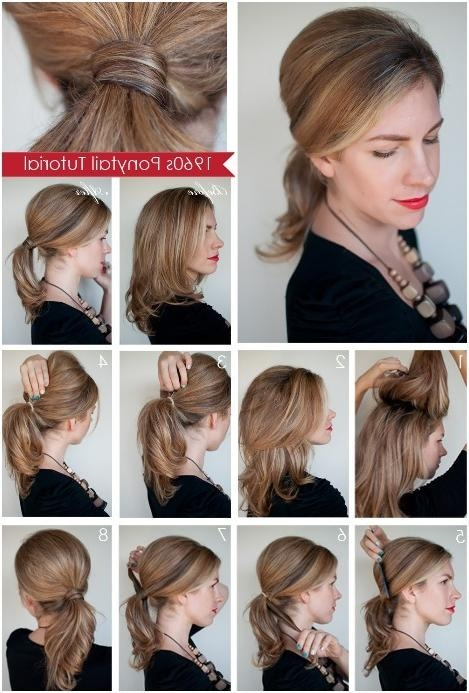 Diy Ponytail Hairstyles For Medium, Long Hair – Popular Haircuts Regarding Long Hairstyles Diy (View 12 of 15)