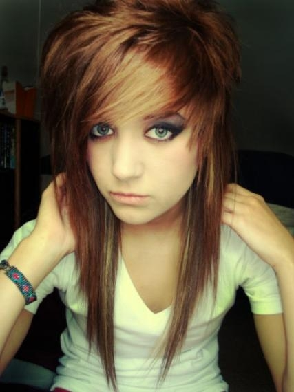 Emo Hairstyles For Girls – Latest Popular Emo Girls' Haircuts In Long Emo Hairstyles (View 4 of 15)