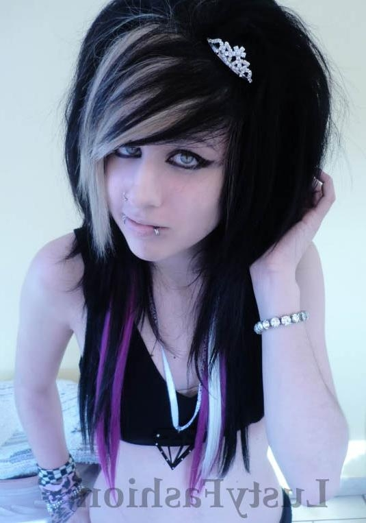 Emo Long Hairstyles With Black Eyes – Hairzstyle : Hairzstyle Within Long Hairstyles Emo (View 15 of 15)
