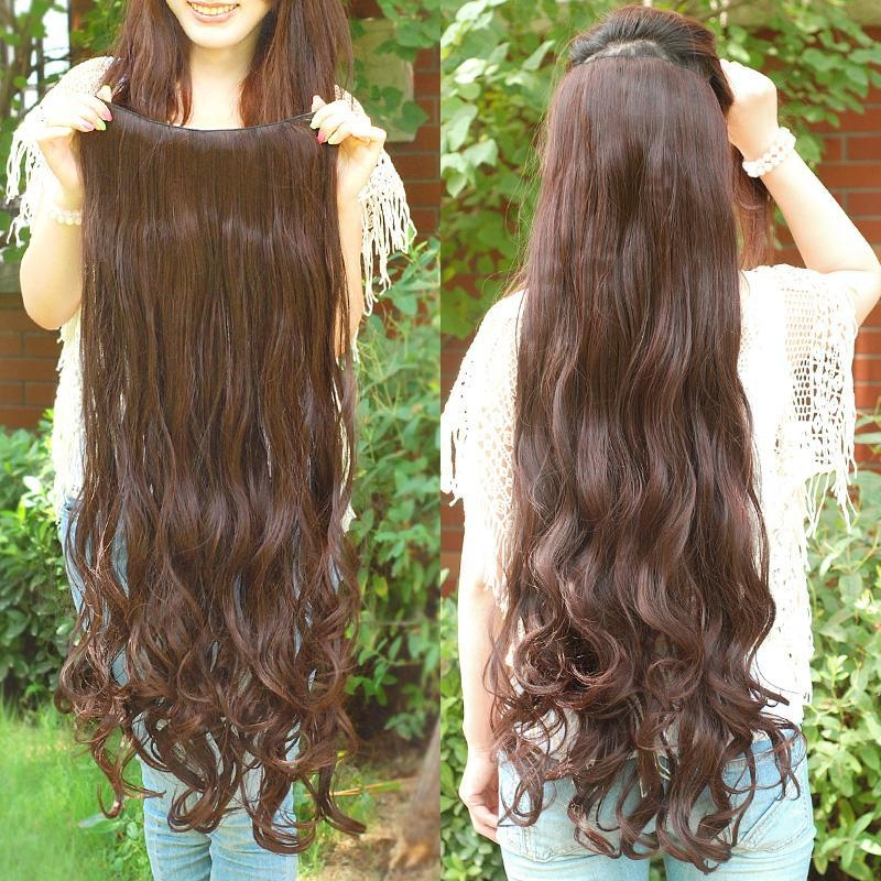 Excellent Quality Super Long Clips In Hair Extensions Synthetic Pertaining To Hair Clips For Thick Long Hair (View 8 of 15)