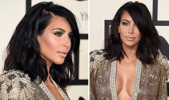 Get Kim Kardashian's Gorgeous Grammy's Long Wavy Bob Hairstyle Intended For Long Bob Hairstyles Kim Kardashian (View 9 of 15)