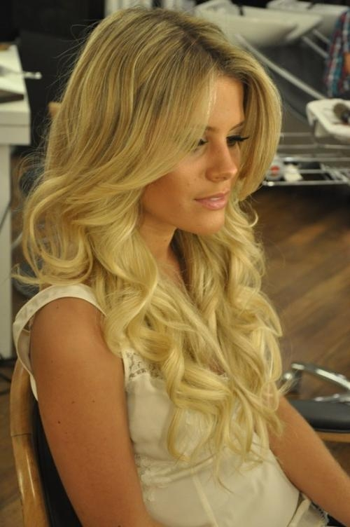Glamour Wedding Hairstyles ♥ Long Shiny Curls Wedding Hair Regarding Long Hairstyles Glamour (View 8 of 15)