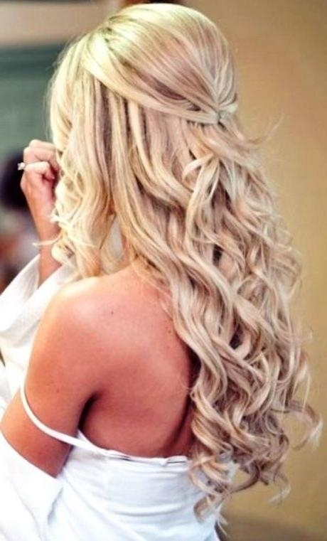 Gorgeous Pinned Back Hair ~ Bridal Half Updo Http://gvenny Regarding Long Hairstyles Pinned Back (View 13 of 15)