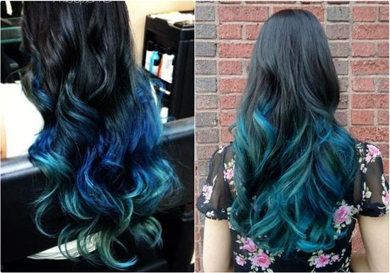 Hair Trends 2015: 10 Hottest Blue Dip Dye Hair Colors For Long In Long Hairstyles Dyed (View 11 of 15)